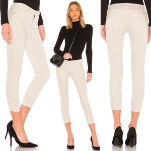 Florence Cropped Denim in bone color